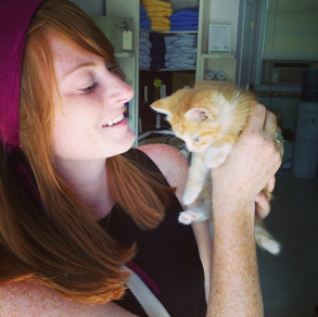Kelsey and Kitten